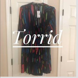 ⭐️Never Worn⭐️ Tags still on Torrid wrap dress